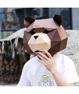 Creative Cartoon Bear Mask DIY Party Tricky Funny Mask - $18.99