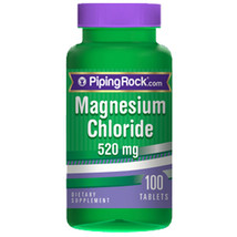 Magnesium Chloride 520 mg 100 Tabs by Piping Rock - $11.75
