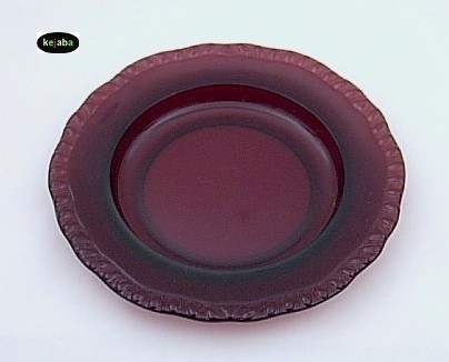 Paden City Gadroon Amethyst Cream Soup Bowl And Liner