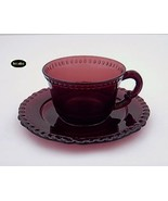 Paden City Gadroon Amethyst Cup And Saucer - $31.50