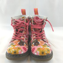 Dr Doc Martens White Floral Toddler Girls Brooklee Leather Boots Size 9 ... - £25.38 GBP