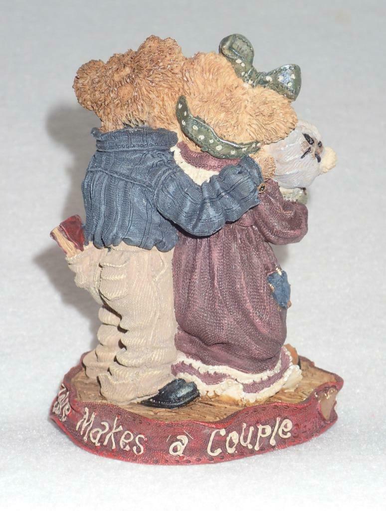 Boyd Bearstone Resin Bears Momma & Papa McNewBear Figurine #227731 8E image 2
