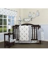 Gray Blue Deer Arrows 13pc Crib Bedding Set Baby Boy Nursery Quilt Bumpe... - $136.52