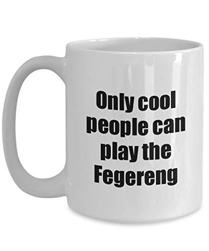 Primary image for Fegereng Player Mug Musician Funny Gift Idea Gag Coffee Tea Cup 15 oz