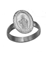 Saint Jude Thaddeus Ring Real Genuine Sterling Silver 925 Pray for us Je... - $26.19