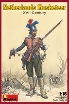 Miniart Models - 16010 - Netherlands Musketeer XVII Century - $17.99