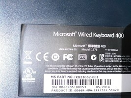 Microsoft 1576 wired  keyboard in good condition - $10.10