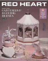 Red Heart Book 402 - Carousel & Rocking Horses - Plastic Canvas - $8.42