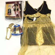 Cleo Beauty Adult Plus Size 4 Piece Halloween Costume Cosplay Egypt Princess  - $16.14