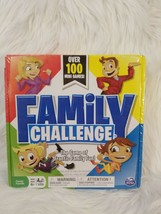 Family Challenge Board Game Spin Master 100 Mini Games Family Night NEW - $11.30