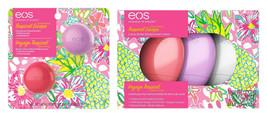 eos Tropical Escape Lip Balm 2pk & Hand Lotions 3pk LIMITED EDITION Set - $15.83