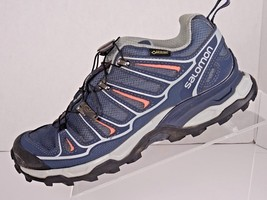 Salomon Women's Size 6.5 X Ultra 2 GTX Hiking Walking Blue/Melon Shoes - $44.51
