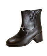 PEERAGE Darla Women's Wide Width Inner Zipper Leather Bootie - $39.95