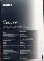 Yamaha CVP-409 407 405 403 401 Clavinova Keyboard Original Data List, Ma... - $19.79