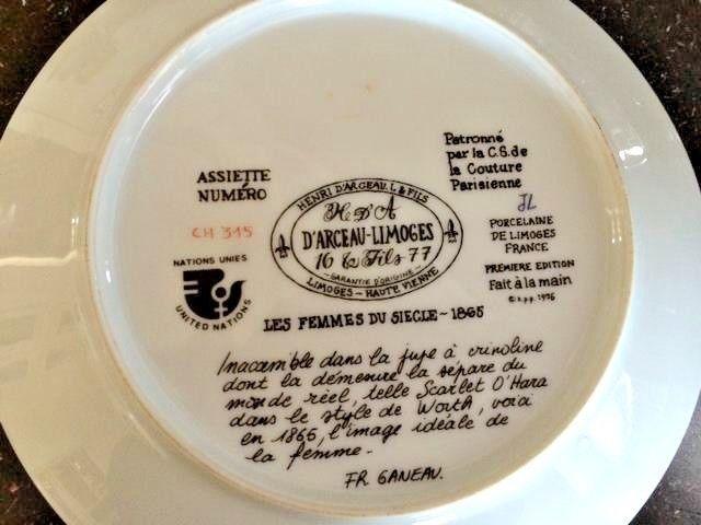 Limoges 1976 Women of the Century Scarlet 1865 Scarlet Ltd Ed Plate