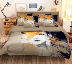 3D Paint Woman Face 226 Bed Pillowcases Quilt Duvet Single Queen King US Summer - $102.84+