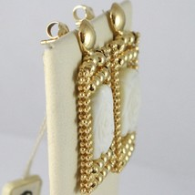Earrings Silver 925 Yellow Gold Plated Pendants, Multi Strand Mop Pearl Flower image 2