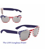 MENS AND WOMENS Red White and Blue USA Stars and Stripes SUNGlasses W443-1 - €7,97 EUR