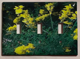 Yellow Flowers flower Light Switch Outlet wall Cover Plate Home decor image 4