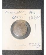 1868 Civil War Coin Token AU - $35.99