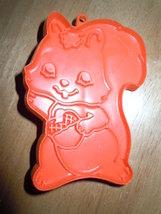Vintage 1980 Hallmark Red Plastic Squirrel Cookie Cutter - $6.99