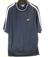 Nike Blue Lined Shirt size Adult L Large RN 56323 CA 05553 - $9.89