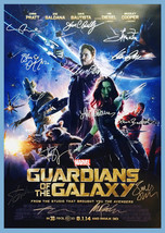 GUARDIANS OF THE GALAXY MOVIE Poster Signed by 14 cast with COA, AUTHENT... - $101.00