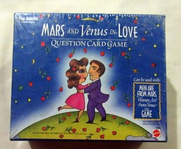 Mars and Venus in Love Question Card Game For Adults Party Game Mattel - $9.49