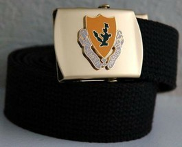 US Army 12th Cavalry Regiment Black Belt & Buckle - $17.81