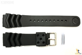 22mm for SEIKO Z-22 Wave Divers Heavy Black Rubber Watch Band Strap w/ 2... - $20.85