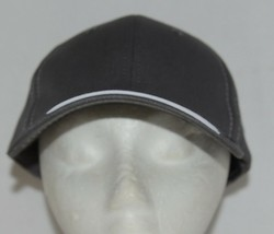 OC Sports BTP 100 Twill Cotton Cap Grey Visor Piping Accent White Adult image 1