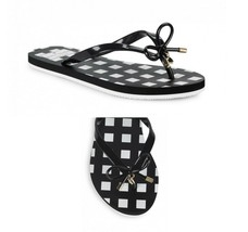 NWB! KATE SPADE ~Size 6 ~ Nova Bow Signature Logo Thong Flip Flops Sandals - $35.99