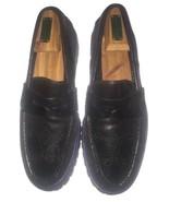 Cole Haan Hawkins Shawl Penny Black Leather Suede Dainite Men 8.5 M $348... - $49.49