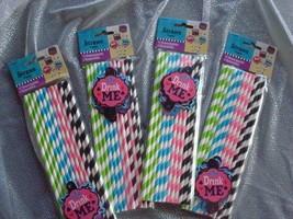 Alice In Wonderland Birthday Party Straws; Mad Hatter Baby Shower Straws... - $5.93