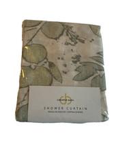 Creative Bath Springtime Sage Shower Curtain Leaf Botanical Print Green New - $25.73