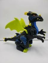 2012 Fisher-Price Imaginext Eagle Talon Castle BLUE DRAGON roaring cool ... - $14.85