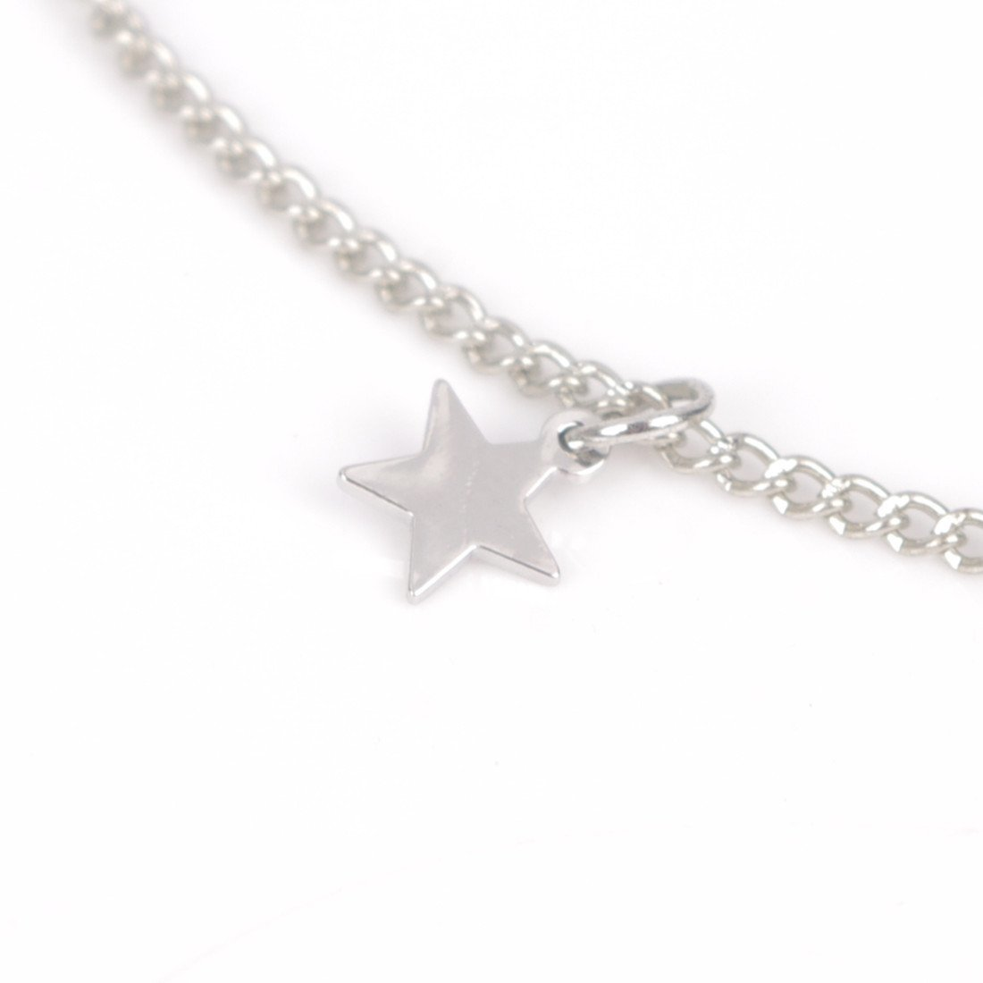 Retro Multi-layers Chinese Knot Star Gem Pendant Choker Necklace Gift