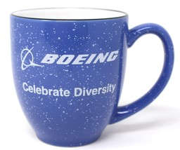 Boeing Aircraft Co Celebrate Diversity Large Speckled Blue Coffee Mug Cu... - $21.97