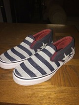 Men's Sperry Top Sider 8 Medium USA Flag Boat Slip On Casual Shoes New - $54.45