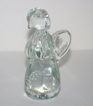 Vintage Crystal Praying Angel Figurine Hand Made Clear Glass Christmas G... - $9.49