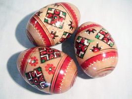 Vintage Collectible PYSANKA EGGS - HAND PAINTED... - $12.00