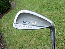 "VTG Lynx ""10"" #7 Golfing Iron (One of 10,000 Sets) Steel Shaft Original - $35.88"