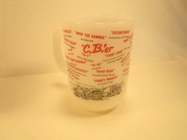 Coffee Cup Glass Mug Anchor Hocking Fire King Cb'er [Y3A6] - $6.72