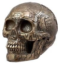 "Ebros Gift Ancient Aztec Nahuatl Codices Anthropology Bronzite Skull Figurine 8"" - $35.99"