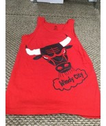 Chicago Bulls Red Adidas Tank Top  No Sleeve Shirt Small Excellent Condi... - $13.85
