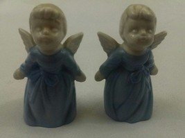 Vintage Blue and white Enesco Angels Kissing - $12.86