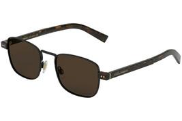 DOLCE & GABBANA Men's Rectangular Sunglasses DG2222 1106/73 Matte Black/Brown 52 - $206.91