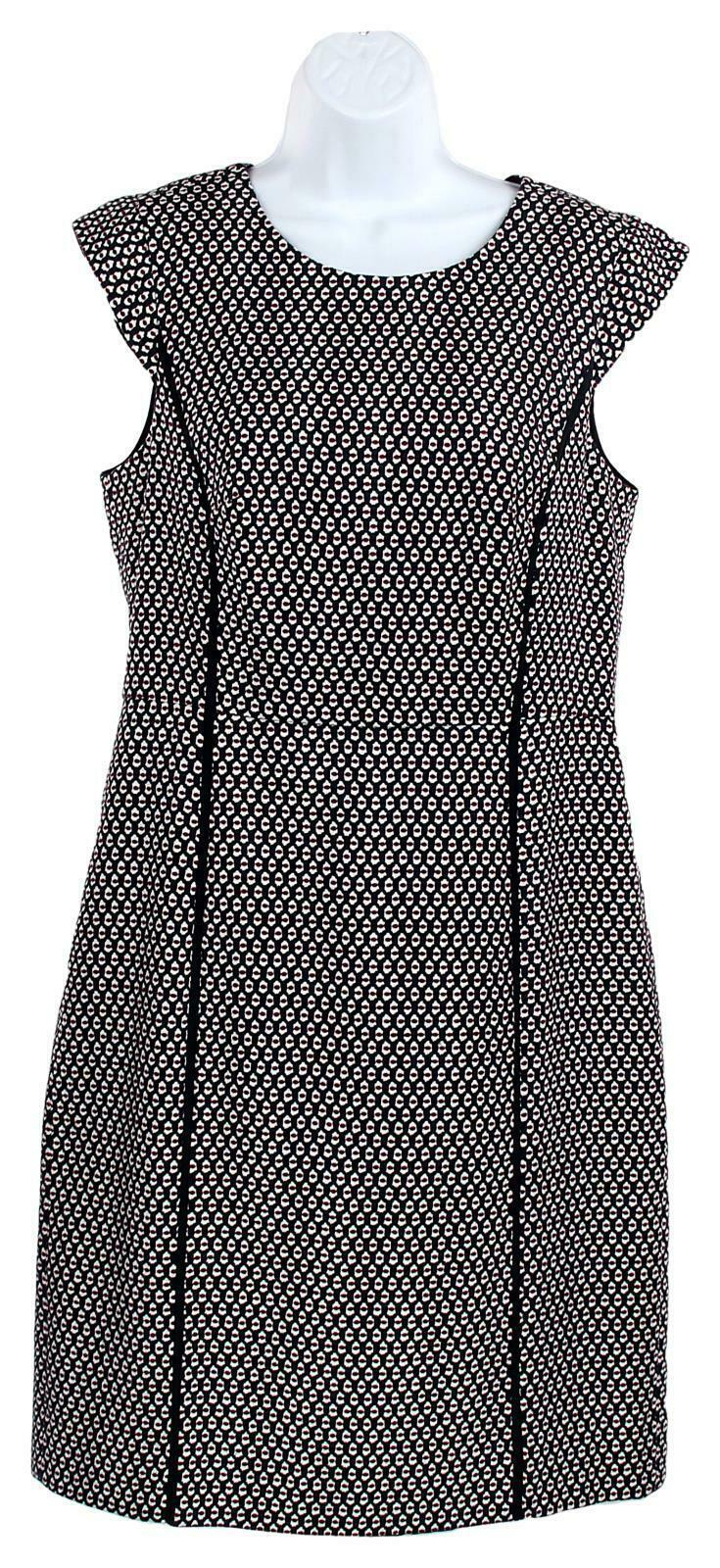 Primary image for J Crew Women's Cap Sleeve Dress in Printed Matelasse Wear to Work 0 J7992