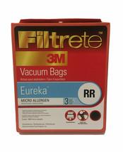 Filtrete 3M Vacuum Cleaner Bag Eureka Style RR Micro Allergen 3 Pack #67... - $8.90