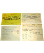 4 1901 Philadelphia PA Billhead Document Receipts Cotton Wool Soap Iron ... - $11.99